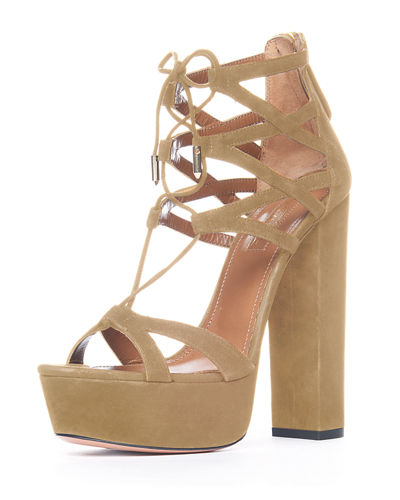 Beverly Hills Plateau Suede Sandal