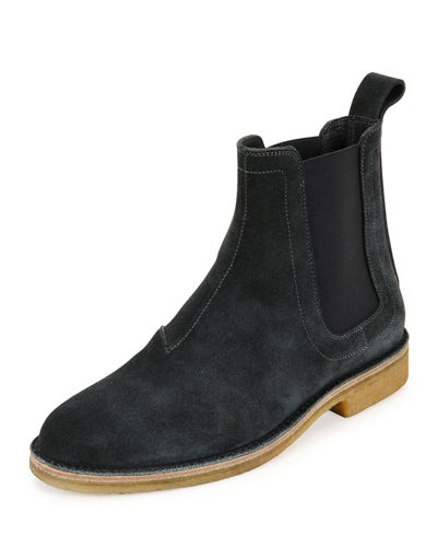 Flat Suede Chelsea Boot