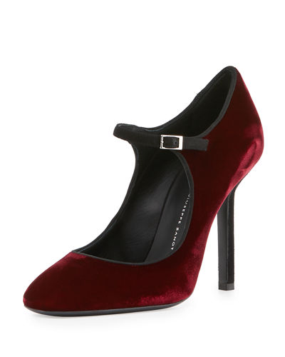 Velvet Mary Jane Stiletto Pump