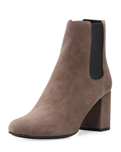 Saint Laurent Babies Suede Chelsea Boot