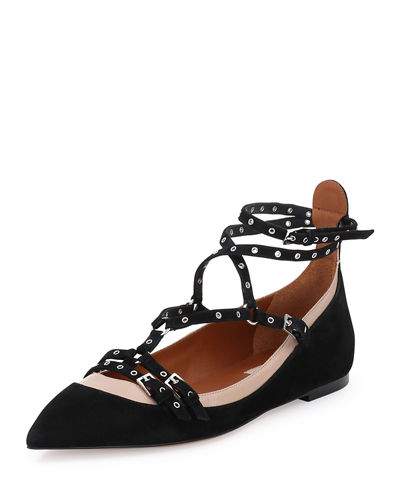 Valentino Love Latch Caged Ballerina Flat
