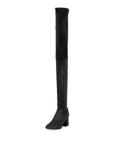 Stretch-Suede Over-the-Knee Boot