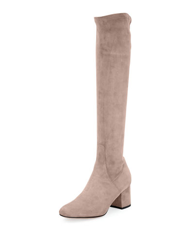 Stretch-Suede Tall Boot