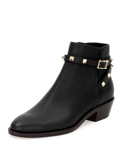 Valentino Rockstud Leather 35mm Ankle Bootie