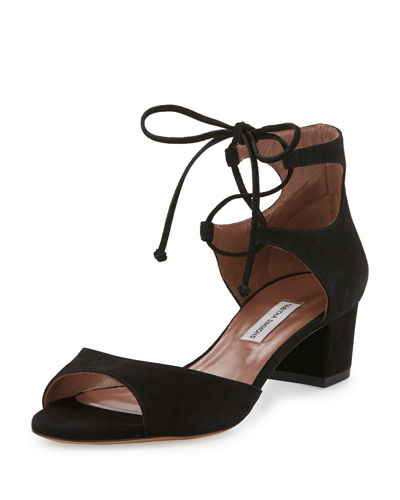Tallulah Suede Ankle-Cuff Sandal