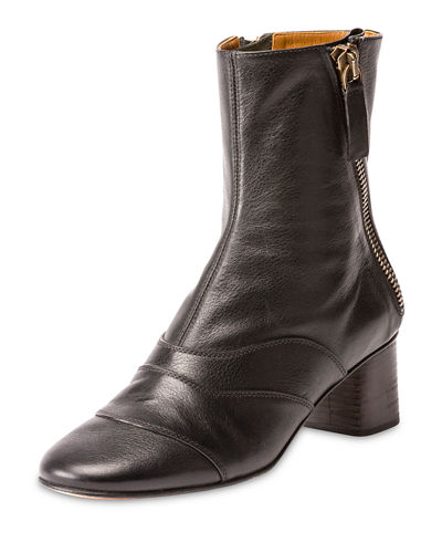 Lexie Seamed Leather Ankle Boot