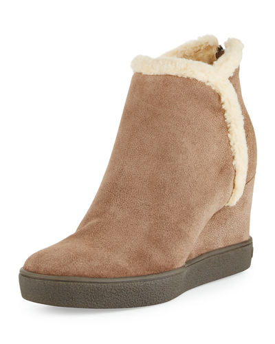 Aquatalia Charlie Faux-Fur Ankle Boot