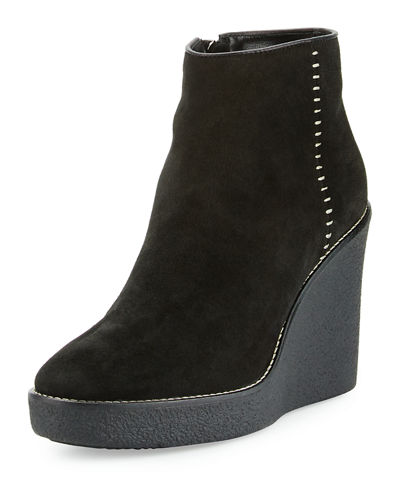 Vena Shearling Fur-Lined Wedge Bootie