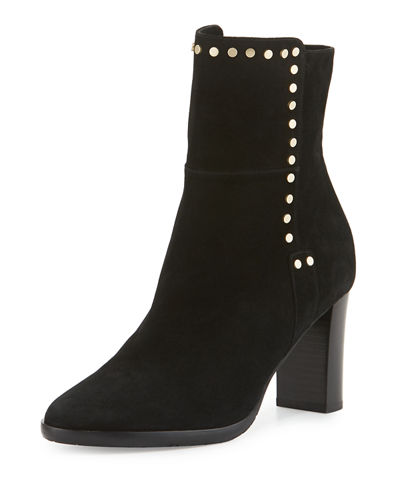 Harlow Studded Suede Bootie