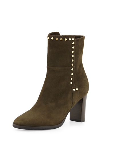 Jimmy Choo Harlow Studded Suede Bootie