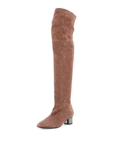 Piloul Stretch-Suede Knee Boot