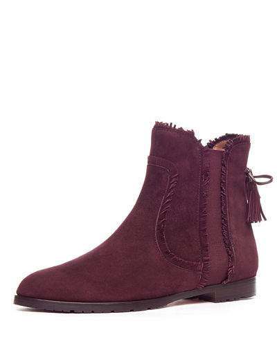Fringe Beatle Suede Flat Boot