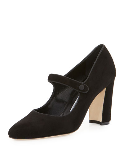 Campy 90mm Mary Jane Pump