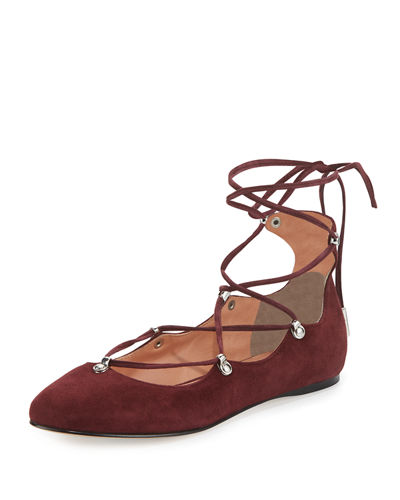 Elias Suede Lace-Up Flat