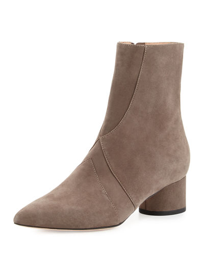 Zero Seamed Suede Ankle Boot