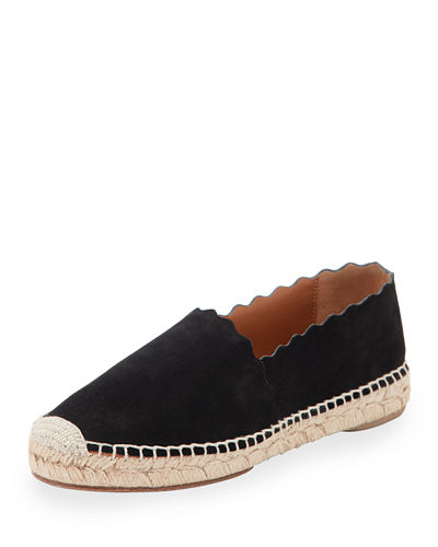 Chloe Lauren Flat Scalloped Espadrille