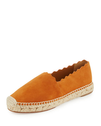 Lauren Flat Scalloped Espadrille