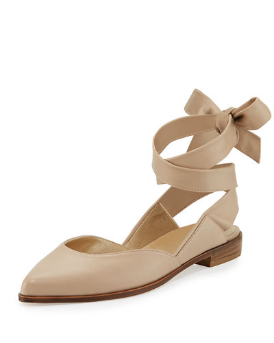 Supersonic Ankle-Wrap Slingback Flat