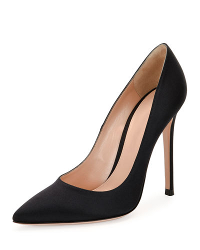 Gianvito Silk 105mm Pump, Black