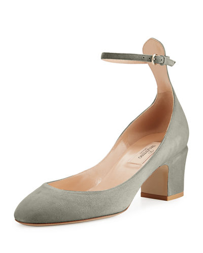 Tan-Go Ankle-Strap 60mm Pump