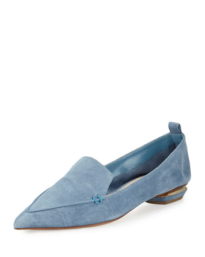 Beya Suede Point-Toe Loafer