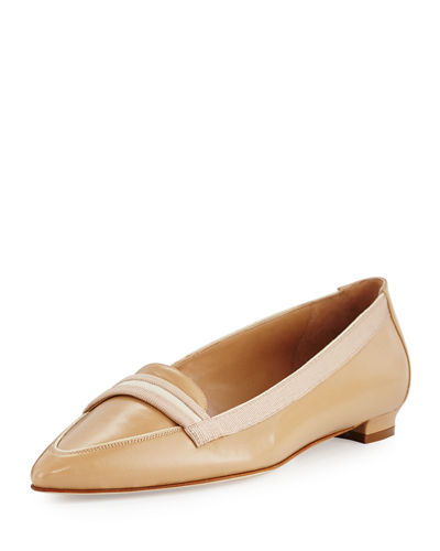 Salute Grosgrain-Trim Leather Loafer