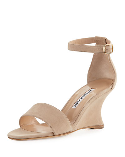 Lauratowe Suede Wedge Sandal