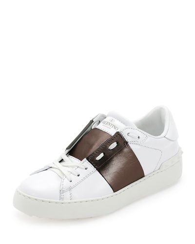 Valentino Garavani Open Untitled Leather Low-Top Sneaker
