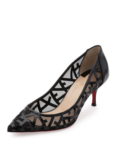 Christian Louboutin Tititata Mesh Web Red Sole Pump
