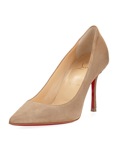 Christian Louboutin Decoltish Suede 85mm Red Sole Pump