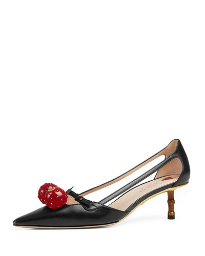 Unia Cherry Leather 45mm Pump