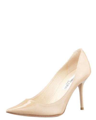 Jimmy Choo Agnes Pointed-Toe Patent Pump