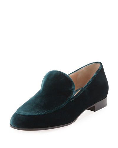 Gianvito Rossi Velvet Smoking Slipper