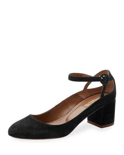 Sweet Thing Suede 50mm Pump, Black