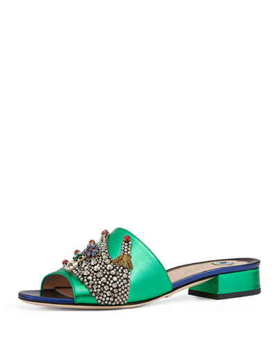 Wangy Jeweled Mule Slide