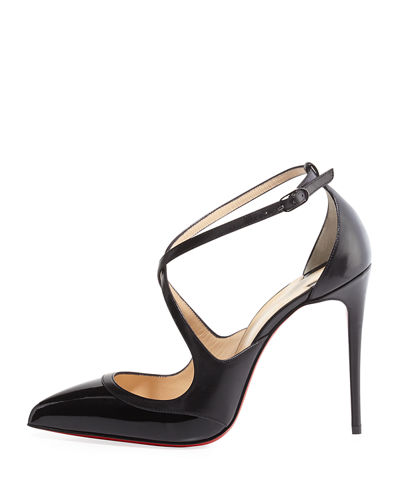 Chrissos Crisscross 85mm Red Sole Pump