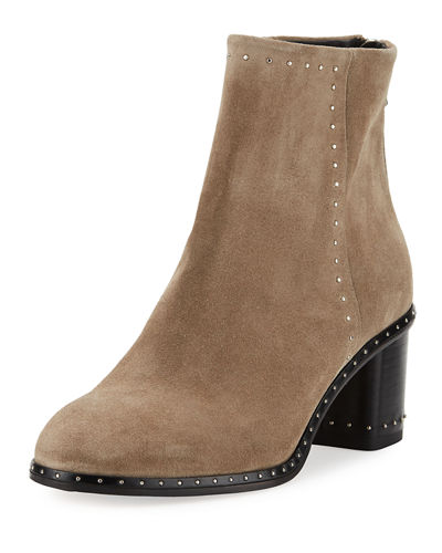 Willow Studded Leather Ankle Boot