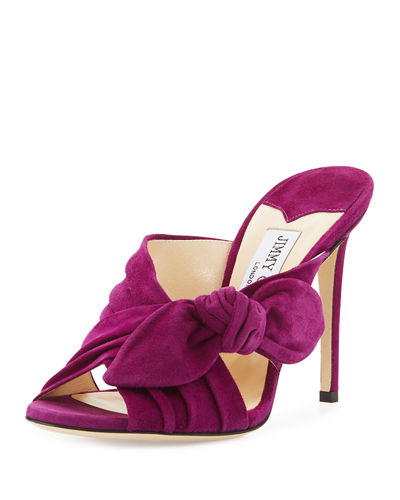 Keely Knotted Suede Mule Sandal