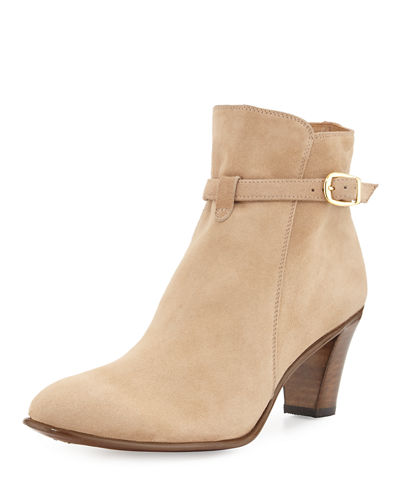 Suede Ankle-Strap Boot