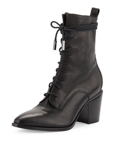 Duran Lace-Up Block-Heel Boot