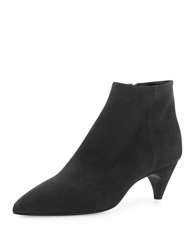 Pointed-Toe Low-Heel Ankle Boot