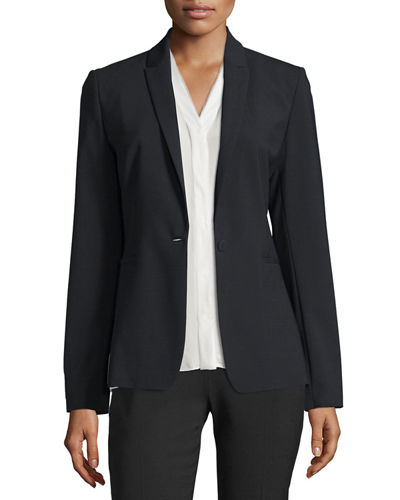 Darcy One-Button Stretch-Wool Jacket