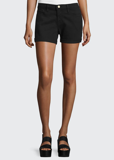 FRAME Le Cutoff Rolled-Hem Shorts