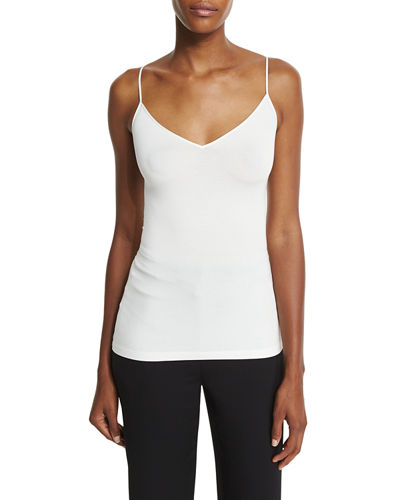 Demi V-Neck Fitted Tank