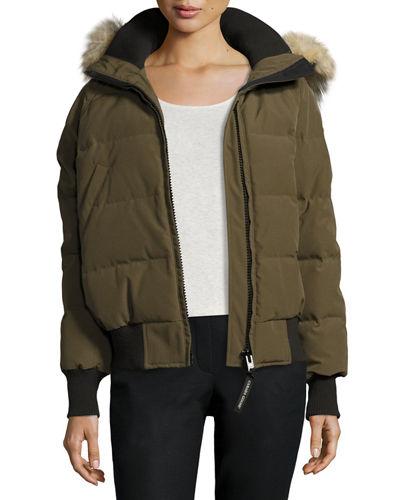 Savona Hooded Quilted Bomber Jacket