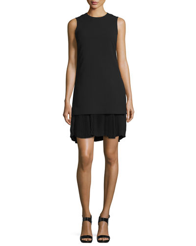 Malkan P Winslow Layered Crepe Dress