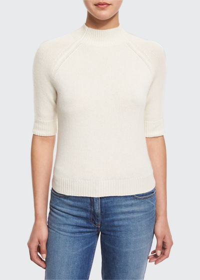 Jodi B Cashmere Mock-Neck Sweater