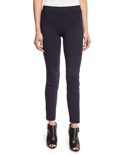 Oleander Cropped Stretch-Knit Pants