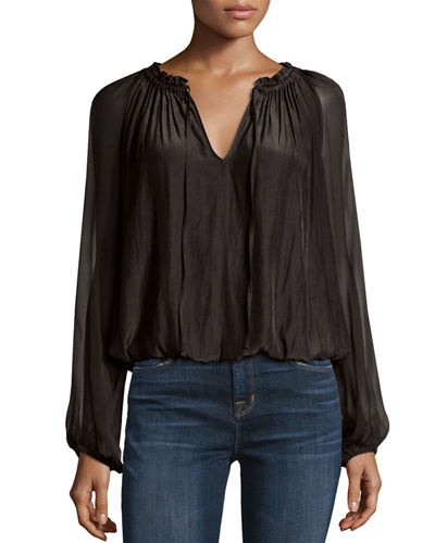 Ginger Long-Sleeve Peasant Top