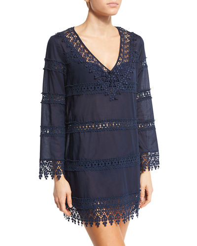Crochet Lace Coverup Dress